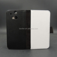 DIY 2D sublimation leather flip mobile cover for HTC ONE M8