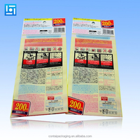 Color Printing Opp+CPP Plastic Packaging Bags With Header Card and Self Adhesive Sealing Tape