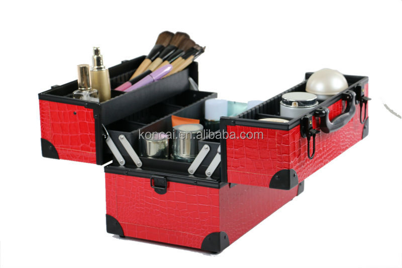A truly great beauty box ideal makeup vanity case, cosmetic beauty suitcases,makeup artist cosmetic bag