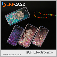 2016 New hot bling glitter floating star quicksand brooch clear tpu phone case for Apple Iphone 5S SE