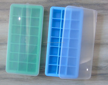 21 Cavities Silicone ice cube trays with lids ice mold silicone for cube ice