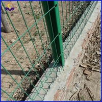 Satndard welded wire mesh fence for railway