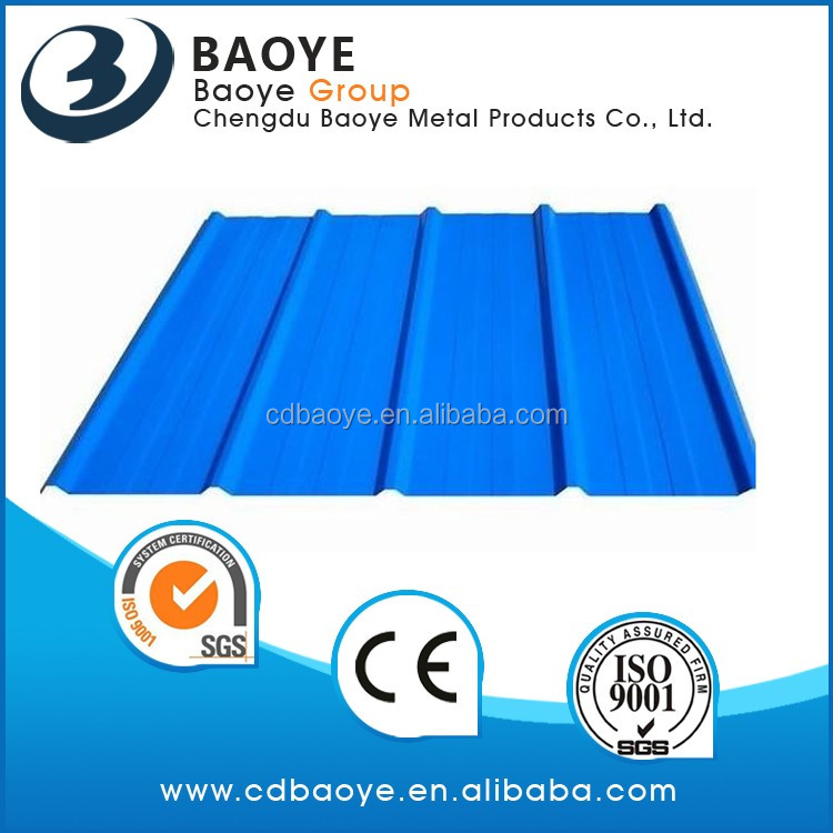 Sea blue colored galvanized corrugated steel sheets/Color Metal Roofing 0.12-0.8mm