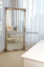 Classical design delicate wooden framed full length cheap decorative wall mirror