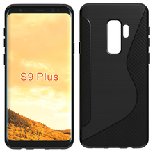 New s line brushed cellphone tpu case for Samsung Galaxy S9 Plus back cover