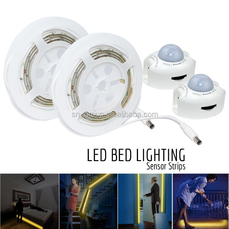 2016 new design DC12V SMD3528 under bed light smart led strip light with motion sensor