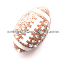 Free shipping 8mm football sports slide charm for bracelets or bands (JS-001)