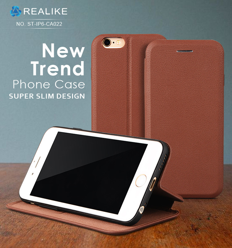 Most popular super thin new style flip leather cases for iphone 7 plus,free sample in stock