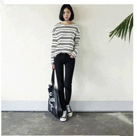 D84377H 2014 AUTUMN KOREA NEW FASHION PLAIN DYED ELASTICITY LADIES PENCIL JEANS