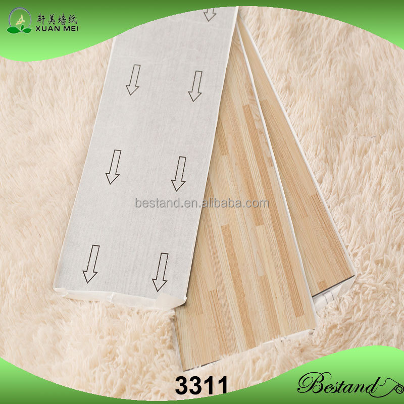 Outstanding durability Wood grain PVC vinyl floor for sale