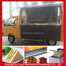 Hot!!!Customized mobile electric tricycle food snack cart/mobile snack food truck/fast food kiosk