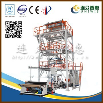multilayer rotatable module blown film extrusion plant