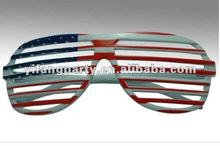 American flag shutter shapes glasses