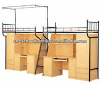 bunk bed desk for dormitory