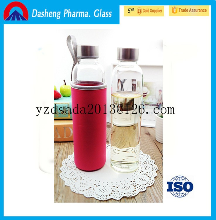Yangzhou Dasheng 280ML Glass Water Bottle With printing