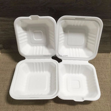 Bio-degradable,Biodegradable Feature and sugarcane Material Pulp Clamshell Box