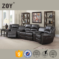 Half Moon Sectional Home Theatre Cinema Sofa ZOY-95960