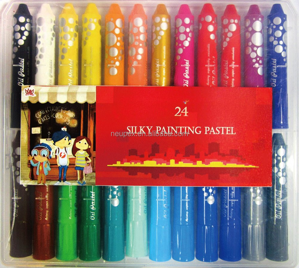 Oil Pastel (Silky Painting ) 24 PCS /PP BOX