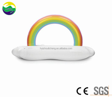 Adult pool China supplier 6pcs Rainbow Cloud lounge floating island inflatable toys pool inflatable float
