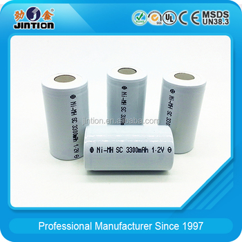 Ni-MH SC 3300mAh 1.2v 10C discharge rate Rechargeable Battery Cell