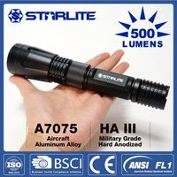 STARLITE 2015 Powerful 500LM IPX7 multi-function police flashlight