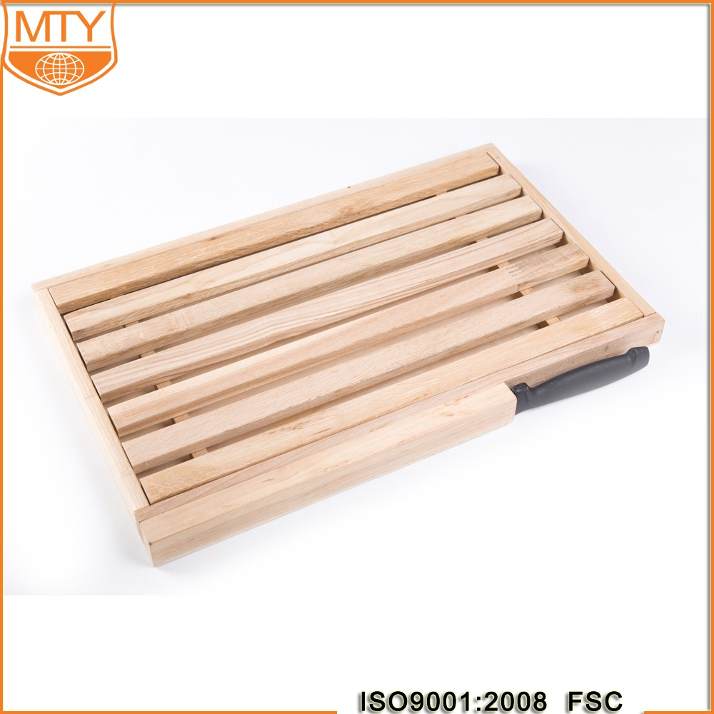 TY-W0299 Wholesale Organic Wooden Chopping Board With Knife