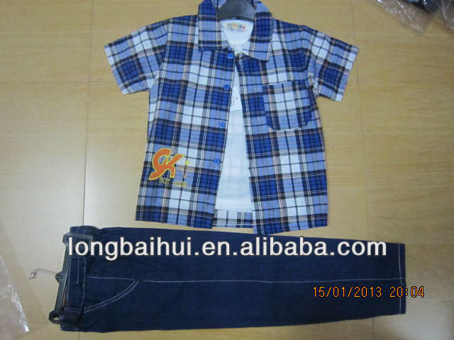 2013 kids clothing overstock cheap wholesale ,boy's T-shirts 3pcs sets