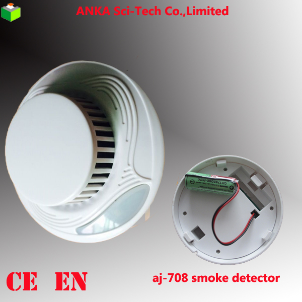 New Product 10 Years Lithium Battery Fire Alarm Optical Smoke Detector