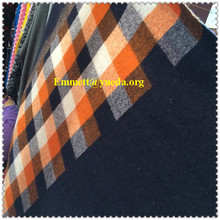 80%wool 20%acrylic white yellow navy colors plaid check jacquard designs knit fabric for garment coat