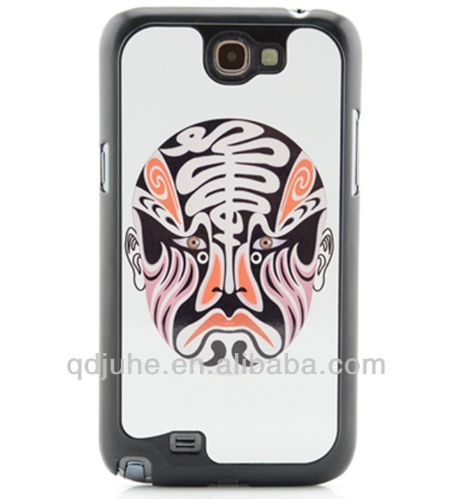 high quality blank mobile phone case for Samsung GALAXY Note 2 N7100 case,with 3d sublimation effect printing