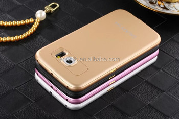 Luxury Ultra-thin Aluminum Metal Bumper PC Back Case Cover For Samsung Galaxy S6 S6 Edge