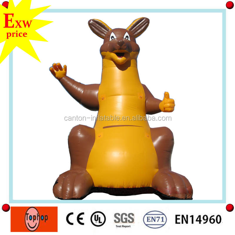 guangdong inflatable advertising balloon best quality oxford giant inflatable kangaroo for sale
