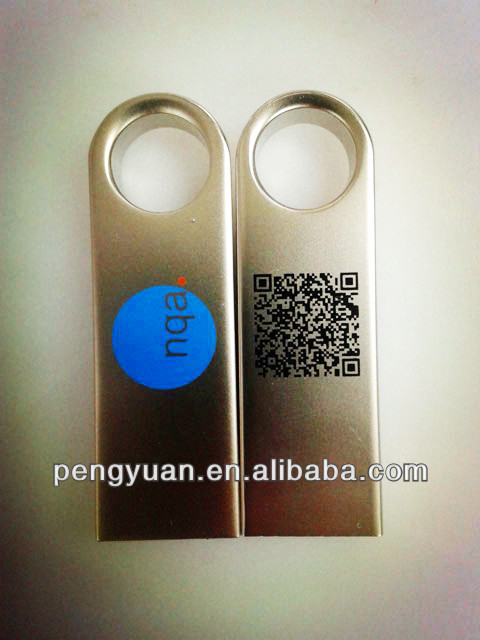 Two-dimensional code printed on stainless usb flash drive for promotional gift 8GB,Durable printing on usb flash drive