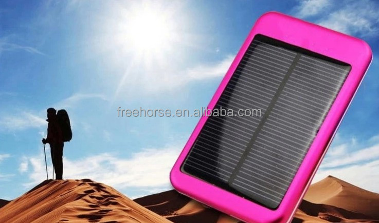 2014 Fashion style solar power bank charger 5000mah