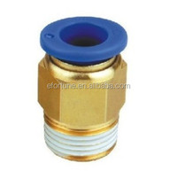 Male straight union.Push-in fitting.Model:PC4-M6. 100pcs/lot.Thread:M6.Tube:4mm