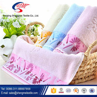 100% cotton made high quality factory price thin face towels embroidered face towels