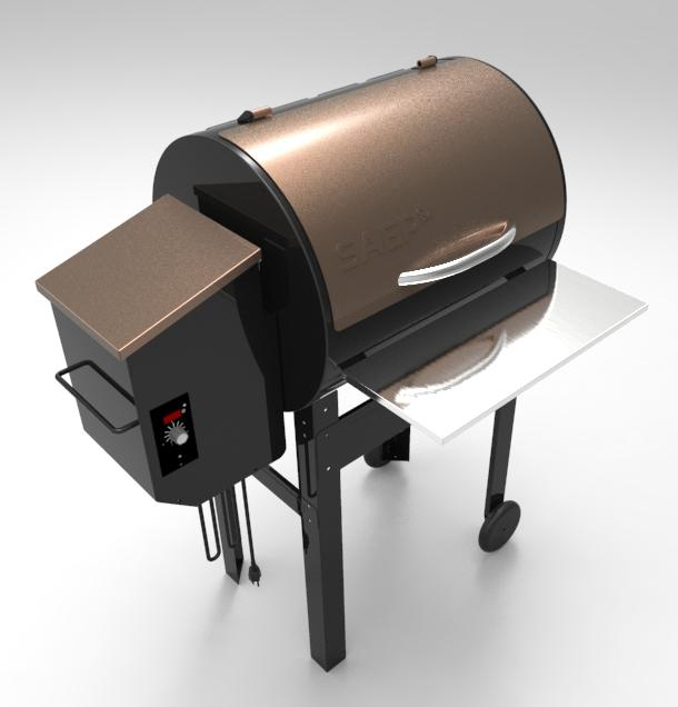 Powder Coated Electric Pellet BBQ Grill Smoker on sale