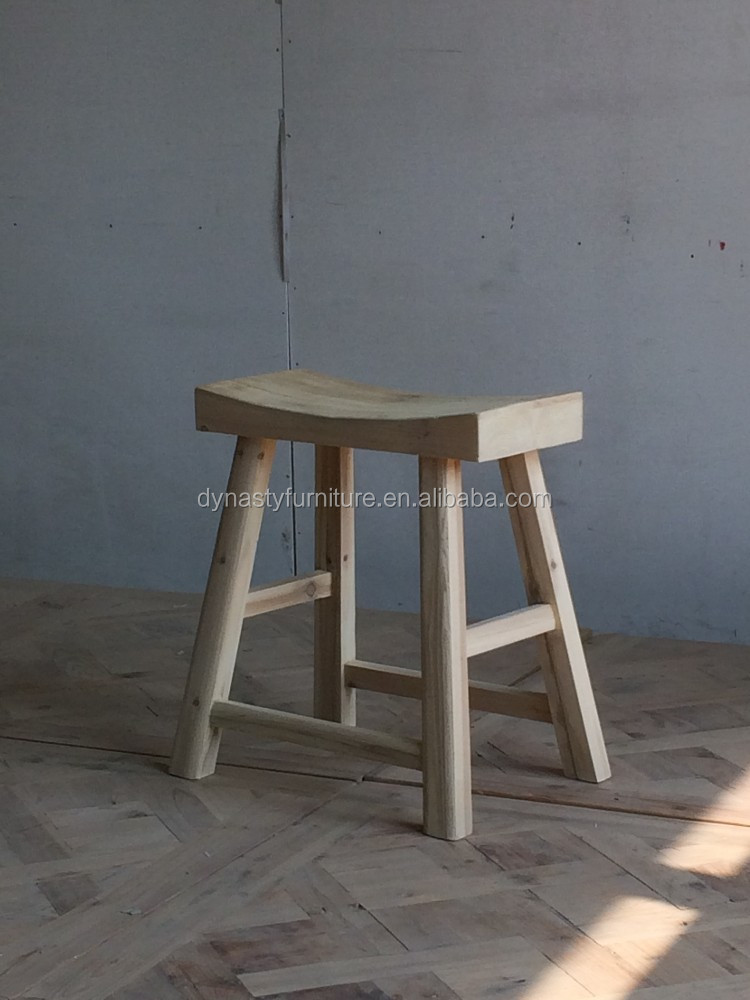 Chinese antique reclaimed wood counter stool