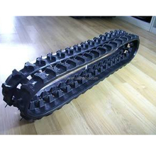 Rubber track undercarriage rubber crawler excavator track