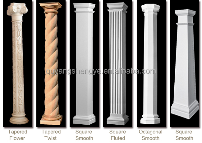 Roman pillars column molds for sale buy marble column for Mdf square columns