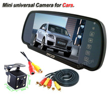 2 videos input 7 inch car mirror car rear view camera screen 7""