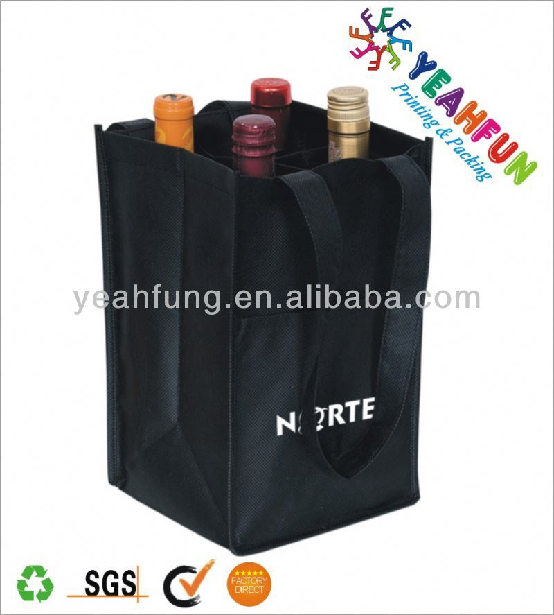 Eco-friendly divided wine tote bag