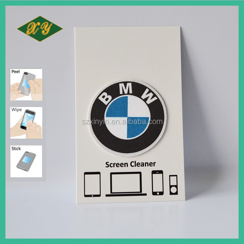 mobile phone accessory sticky microfiber screen cleaners/wipers