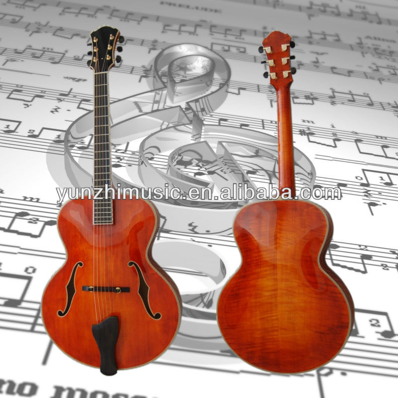 yunzhi handmade solid wood acoustic archtop guitar