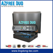 freesky hd tv set top box AZFREE DUO with satellite decoders nagra 3