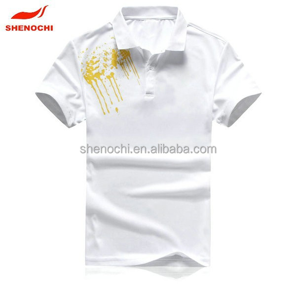 2014 young design fashion breathable dry fit printed polo shirt