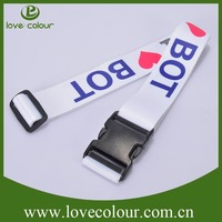 Polyester Custom Made personalized Luggage Strap Adjuster Straps