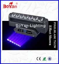 China Supplier Professional Stage Led Beam Lights Pixel Blade 7*12W RGBW 4in1 Led Beam Moving Head Light for Wedding Event Beam