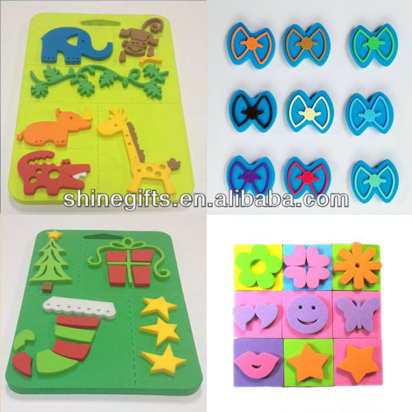 Colourful rubber sheet for stamp