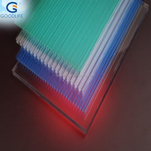 PC hollow sheet impact resistance triple wall sheet for personal using
